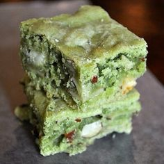 Matcha brownies!!!! Super yum!!