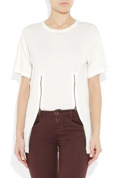 Givenchy and Balmain: MAISON MARTIN MARGIELA Double Zip Tshirt [DIY Idea]