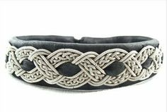 Sami Bracelet Swedish Lapland Reindeer Leather Pewter Nordic Art & Design. $118.00. Pewter contains 4% silver. Made of soft black reindeer leather