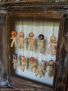 Halloween Ornaments Halloween Folk Art by Melissa Valeriote