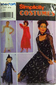 Simplicity 0641 Misses' Dress Costumes