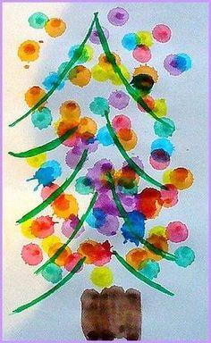 Arbre de nadal. Kerstboom knutselen en verven. Christmas tree painting