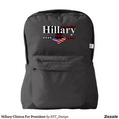 Hillary Clinton For President Backpack