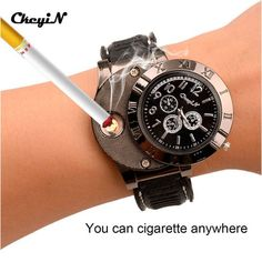 Best Prices New 2017 Cool Military Electronic Lighter Usb Quartz Watch ManQuartz Sports Cigarette Lighter Men Watches in good conditions New 2017 Cool Military Electronic Lighter Usb Quartz Watch ManQuartz Sports Cigarette Lighter Men Watches P Cigar Lighters, Usb, Best Watches For Men, Beautiful Watches, Cool Things To Buy, Stuff To Buy, Sport, Fashion Watches, Rolex Watches