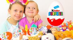 Surprise Eggs! Ксюша и Алиса играют в Киндер сюрпризы! Игрушки для детей!