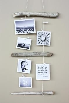DIY Tutorial: Driftwood Crafts / DIY painted driftwood hanger - Bead&Cord