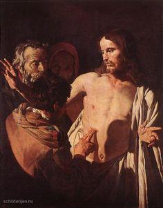 De ongelovige Thomas door Gerrit van Honthorst, 1620