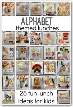 Alphabet lunches for children - Here Come the Girls Food Art For Kids, Cooking With Kids, Toddler Meals, Kids Meals, Toddler Food, After School Snacks, School Lunch, Preschool Snacks, Homemade Dressing