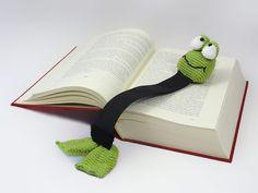 Henri le frog bookmark - Allcrochetpatterns.net