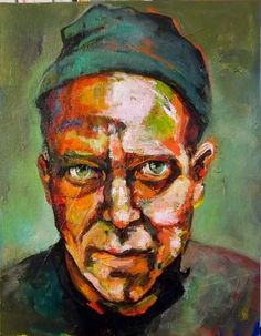 "Love  11""x14""  acrylic on canvas  (portrait of Matt Sesow)"