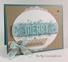 Seasonally Scattered Stamp Set by Stampin' Up! - gorgeous Christmas/Winter Card!