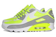 NIKE AIR MAX 90 PREMIUM (VOLT)  de Sneaker Freaker    Following up from a pair of stylish black/white and obsidian/soar releases, the Air Max 90 Premium struts out in this flashy new volt colourway. Combining lightweight Hyperfuse construction with a wolf grey suede overlay for a touch of panache, this vibrant hybrid is available now from End Clothing.