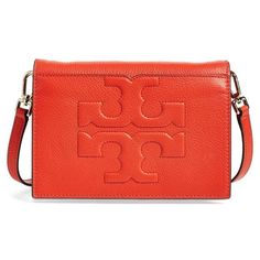 Tory Burch 'Bombe T' Leather Convertible Crossbody Bag ($395) ❤ liked on Polyvore featuring bags, handbags, shoulder bags, black, leather crossbody, leather crossbody purse, leather cross body purse, genuine leather shoulder bag and crossbody purse