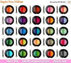 50% OFF SALE Eyeshadow Clipart, Eye Shadow Clip art, Eye Makeup, Cosmetics, Girly Beauty Supplies, Face Powder, Planner Icons, Digital, PNG by I365Art