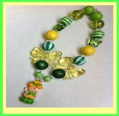 Tinker Bell Inspired Chuncky Necklace $20.00  http://www.gabskia.com/store.php#!/~/product/category=5192045=22438188