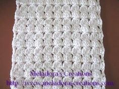 Crochet tutorial that teaches you how to make a Crocheted scarf using the Cluster Stitch. Use any size yarn or hook. Makes a beautiful scarf with variegated ...