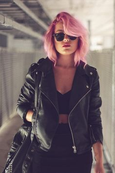 I Think its super cool and daring to dye your hair such a fun color like pink! The outfit also helps