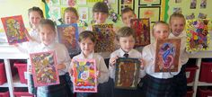 Marie-Therese Feeley's Year 4 Art class - Kent, UK