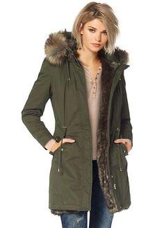 £170. Laura Scott Faux Fur Trim Parka