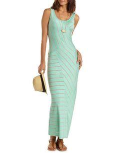 d803924370e30 Asymmetrical Stripe Maxi Dress  Charlotte Russe Striped Maxi Dresses