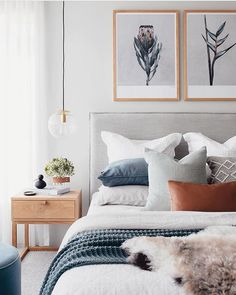 Bedroom Inspo The bedroom of - Architecture and Home Decor - Bedroom - Bathroom - Kitchen And Living Room Interior Design Decorating Ideas - Bedroom Inspo, Home Decor Bedroom, Scandi Bedroom, Art For Bedroom, Gray Bedroom, Bedroom Colors, Bedroom Neutral, Light Bedroom, Neutral Bedding