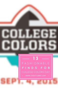 13 Fashionable Finds for College Colors Day