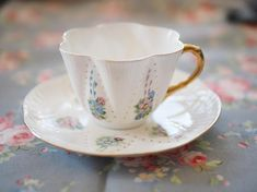 Rare Shelley dainty Handpainted vintage tea cup