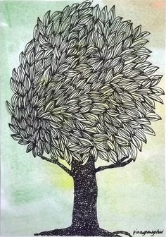 POSTCARD: Mail Art: Trees 1 | Flickr - Photo Sharing!