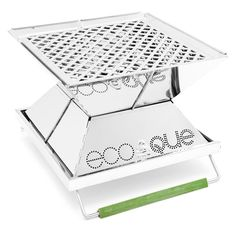 The EcoQue Portable Grill not only collapses down to a thickness of one inch, but it uses 75 percent less fuel than a conventional grill; let the barbecuing begin.