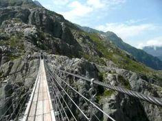 Trift Bridge in Switzerland
