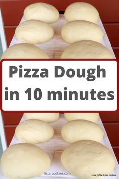 If you are looking for easy recipe done by your mixer this is the one called Pizza dough in 10 minutes. Easy recipe, simple ingredients to make from 6 to 9 pizza dough that you can freeze and use in the future. Freeze Pizza Dough, Best Pizza Dough, Good Pizza, Pizza Pizza, Pizza Recipes, Cooking Recipes, Cooking Gadgets, Sweets Recipes, Desserts