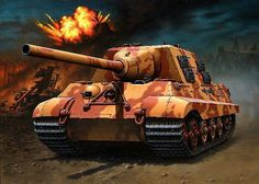German Tank Destroyer: JgPz VI Jagdtiger Military Art, Military History, Military Uniforms, Luftwaffe, Tank Armor, Ww2 Pictures, Armored Fighting Vehicle, Ww2 Tanks, World Of Tanks