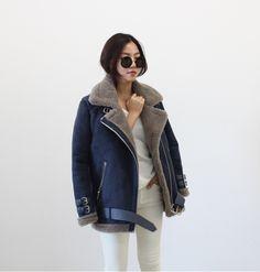 Mon Style loves... warm bomber jacket  #fashion #women #blue