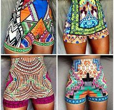 African women print fashion wax fabric clothing shorts inspiration style…