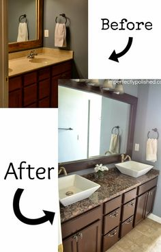 Bathroom Makeover Vanity old builder grade bathroom vanity makeover (plus tutorial