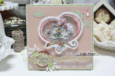 """Whimsy Stamps, Krista Heij-Barber """"Love Birds"""""""