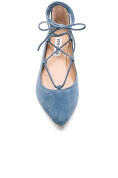 Steve Madden Eleanorr Ballet Flat in Blue | REVOLVE