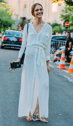 white-dress-street-style