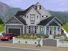 My Lovely family Villa with 2 floors.  Found in TSR Category 'Sims 3 Residential Lots'