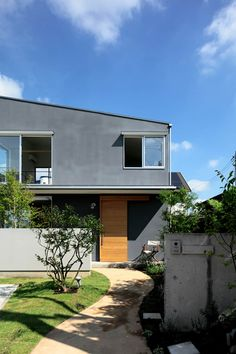 House Wall, Cladding, Facade, House Design, Mansions, Architecture, House Styles, Building, Garden