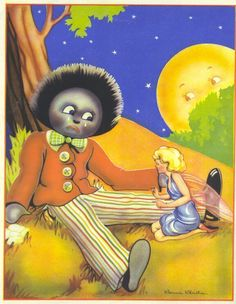 Items similar to nursery decor GOLLIWOG FAIRY vintage print Connie Christie illustration on Etsy Vintage Prints, Vintage Posters, The Magic Faraway Tree, Old Cards, Christmas Books, Illustrations And Posters, Book Illustration, Vintage Cards, Vintage Dolls