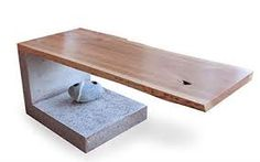 Image result for cement and wood table