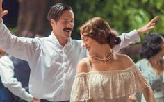 """""""Mikra Agglia,"""" a Greek film based on Karystiani's namesake novel (published by Kastaniotis in Greek and translated into English as """"The Jasmine. Lights Camera Action, Film Base, Movie Costumes, Film Music Books, Series Movies, Movies To Watch, Jasmine, Off Shoulder Blouse, Documentaries"""