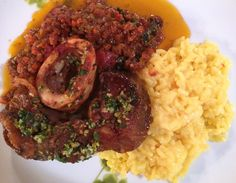 Ossobucco with Saffron Risotto from Marcella Hazan's Essentials of Italian Cooking. #IMadeThis