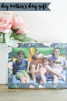 Everyday Party Magazine DIY Mother's Day Gift #DIY #Cricut #CricutKnifeBlade #Xyron #Canon #CraftyWithCanon
