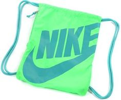 Nike Heritage Gymsack Bag Neon and Bright Blue Nike Neon, Nike Outfits, Vintage Nike, Nike Sport Backpack, Nike Motivation, Nike Air Max 2012, Neon Bag, Nike Under Armour, Nike Quotes