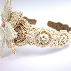 A personal favorite from my Etsy shop https://www.etsy.com/listing/520909633/beaded-gold-crystal-headband-beaded