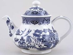 blue china teapot 2 - Porcelana
