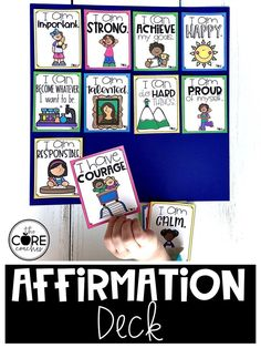Mindfulness affirmation deck for kids.  Encourage self- confidence and positive thoughts.
