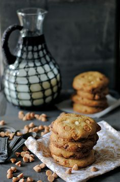 Peanut Butter & White Chocolate Chip Cookies via How To: Simplify #recipe